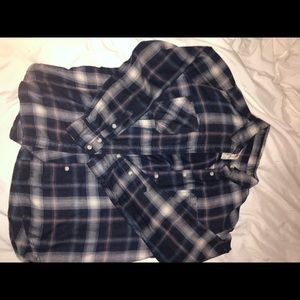 Navy Long Sleeve Flannel